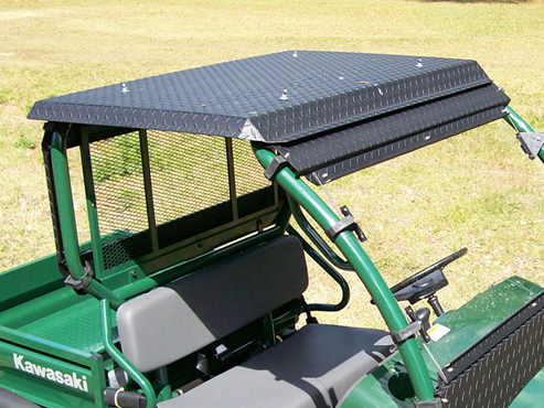 mule 610 diamondplate roof